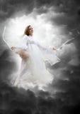 Ange dans la tempête de ciel Photo libre de droits