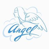 Ange dans le ciel illustration libre de droits