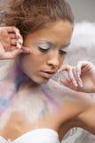 Ange dans le renivellement de couleur Photo libre de droits