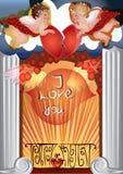 Ange de conception de Valentine de l'amour Photographie stock libre de droits