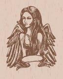 Ange de cru illustration stock