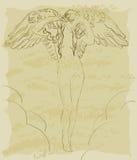 Ange de cru illustration de vecteur