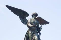 Ange de fontaine de Bethesda, Central Park, NY Image libre de droits
