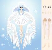 Ange de l'hiver Images stock