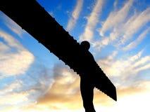 Ange de la borne limite du nord de Gatheshead Newcastl Images stock