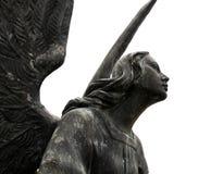Ange de marbre noir Photographie stock libre de droits