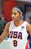 Ange de Mccoughtry de basket-ball des Etats-Unis d'équipe de joueur Photographie stock libre de droits