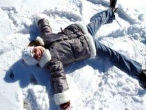 Ange de neige Photos libres de droits