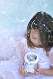 Ange de neige Photo stock