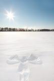 Ange de neige Photo libre de droits