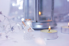 Ange de Noël Images stock