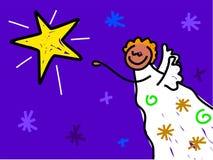 Ange de Noël illustration de vecteur
