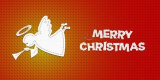 Ange de Noël de vecteur illustration stock