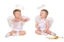 Ange de Noël, petit enfant Images libres de droits