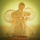 Ange de paille. Image stock