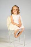 Ange de petite fille Images stock