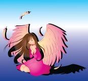 Ange de prière illustration libre de droits