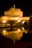 Ange de saint de château à Rome, Italie Images libres de droits