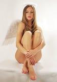 Ange doux avec des ailes images libres de droits