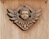 Ange en bois Photographie stock libre de droits