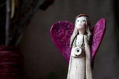 Ange en céramique Image stock