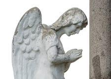 Ange en pierre Photos stock