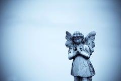 Ange en pierre Photographie stock