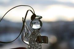 Ange en verre de Christmass Image stock