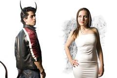 Ange et démon Photo libre de droits