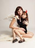 Ange et démon Images libres de droits