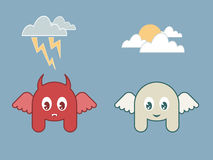 Ange et le diable illustration stock