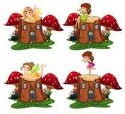 Ange féerique sur le bois illustration stock
