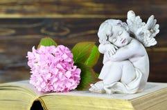 Ange gardien et fleur Photo libre de droits