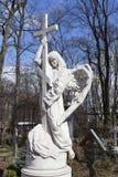 Ange Pierres tombales au cimetière de Smolensk St Petersburg Photo stock