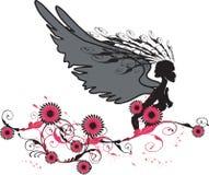 Ange rouge illustration libre de droits