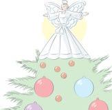 Ange simple d'arbre Image stock