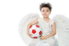 Ange sportif Photographie stock