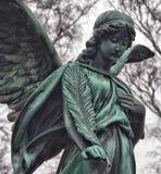 Ange sur le cimetière Photographie stock