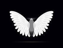 Ange sur un fond noir Illustration de Vecteur