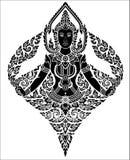 Ange thaïlandais de femelle d'art illustration de vecteur