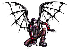 Ange tombé de Goth illustration stock