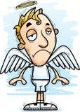 Ange triste de bande dessinée illustration stock