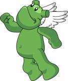 Ange vert Image stock