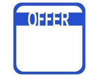 Angebot lizenzfreies stockfoto