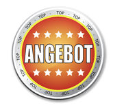 Angebot button royalty free stock images