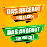 Angebot der Woche - Deal of the Week Origami banners. Eps10 Vector for commercial use Stock Photos
