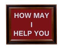 Angebot des Hilfszeichens lizenzfreies stockbild
