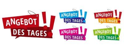 Angebot des Oznaczający - sprzedaż dni sztandarów etykietki royalty ilustracja
