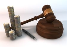 Angebot-Geld Stockfoto
