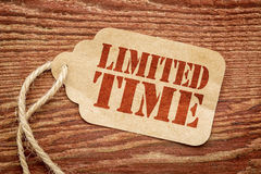Angebot-Preiszeichen der begrenzten Zeit Stockbild